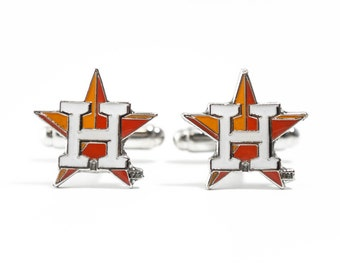 Houston Astros Cuff Links -- FREE SHIPPING with USPS First Class Domestic Mail