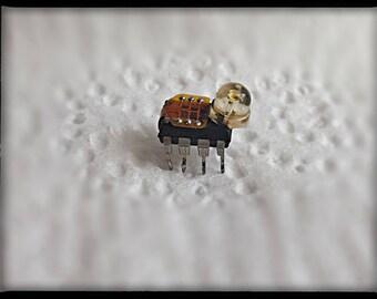 Computer parts mini robot bug