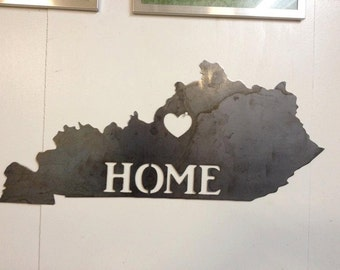 Kentucky Home Metal Sign