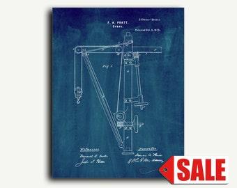 Patent Art - Crane Patent Wall Art Print