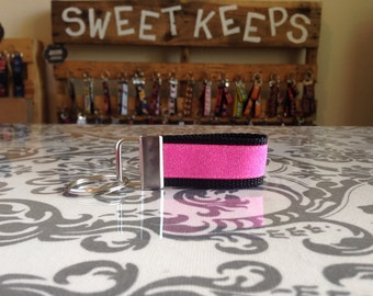 Pink Shimmer Keychain Fob
