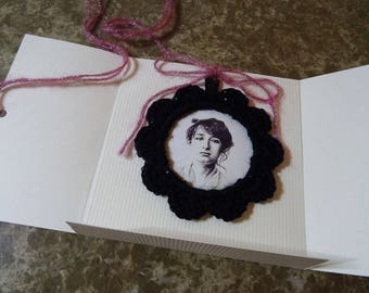 Camille Claudel / gift card with frame black hook