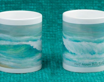 Aqua Wave Mug - Half Moon Bay