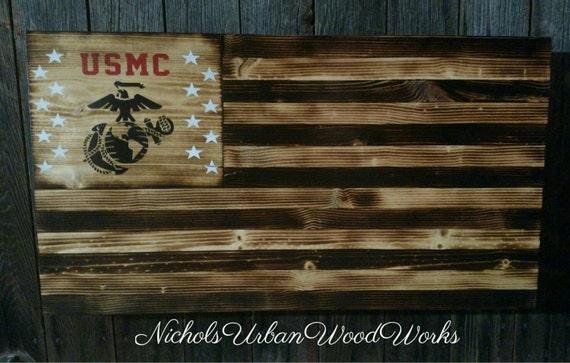 Marine Corps Rustic Concealment Flag American Flag Usmc Hidden