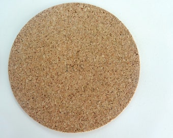 "3 3/4"" Pack of 100 or 200 - Cork Discs 3 3/4"" x 1/16""  Cork Tile Backing With Adhesive For Coasters & Other Craft Projects"