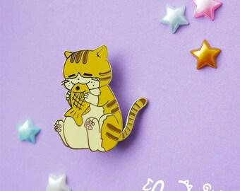 Enamel Pin: Taiyaki Tabby Cat