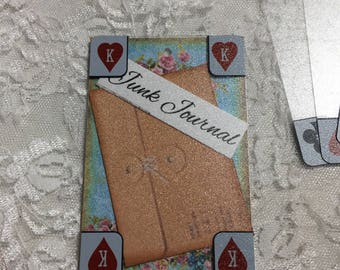 NEW!! Clear Plastic Playing Cards ( Set of 6 ) Junk Journals, Scrapbooks, Decoupage, Collages, Journaling Pockets