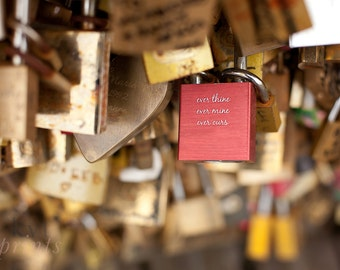 Paris Photo, Paris Photography, Love Locks, Padlock, Paris Love Lock, Paris Decor, Gift for Girlfriend, Love Lock, Valentine's Day Gift