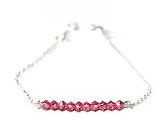 Bracelet Silver 925 basic'chic and pink Swarovski pearls