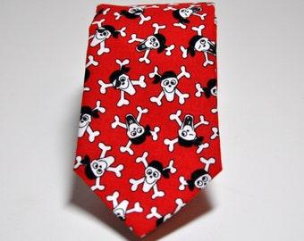 Red Necktie for Boys or Men - Pirate Tie