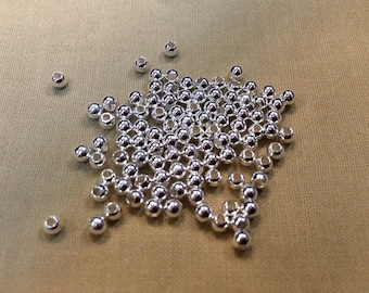 100 metal beads 3mm silver jewelry designs