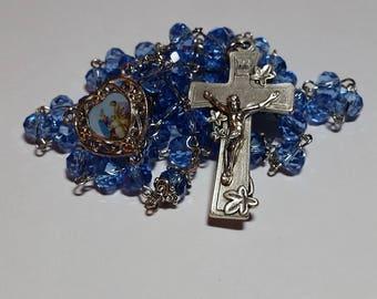 Holy Family Rosary // Blue Rosary