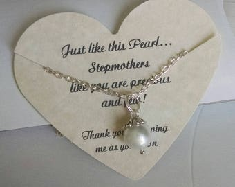 Step Mom, Step Mom Gift, Step Mother of the Bride, Stepmother Wedding Gift, Gift For Stepmother, Gift For Mother In Law, Comes with Card