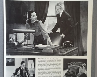 "1941 Royal Typewriter Print Ad - ""This once - let your secretary be the boss"""