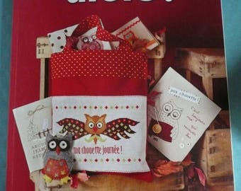 Embroidery patterns Crosstitch magazine in french, CHOUETTES Then ! ( owls)