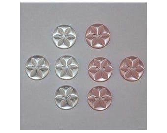 40 x buttons basic 14 mm Star 2 holes set B *-000833