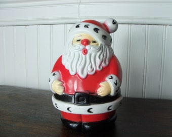 Vintage Plastic Santa Claus Holiday Decoration Christmas Figurine Statue