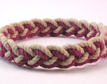 scarlet sand two strand rope bracelet knot bracelet handmade cotton bracelet 4008