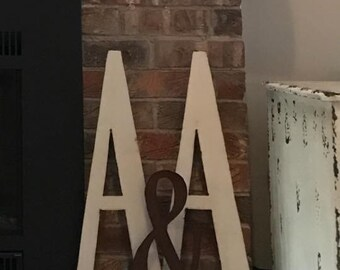 "A, 24"" Metal Letter A, Distressed A, Metal Letters, Large Metal Letters, Red A"
