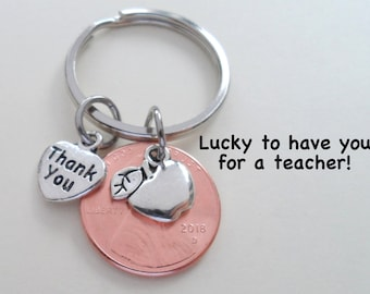 Teacher Appreciation Gift Keychain, Teacher Gift, Employee Appreciation Gift, Coworker Gift, Work Team Gift, Thank you Gift, Penny Keychain