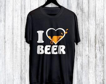 T-shirt I Love Beer  Shirt T Shirt TShirt Tee Shirt - T-shirts I love Beer