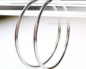 4 pcs 20mm Endless Hoop Earring 925 Sterling Silver F336