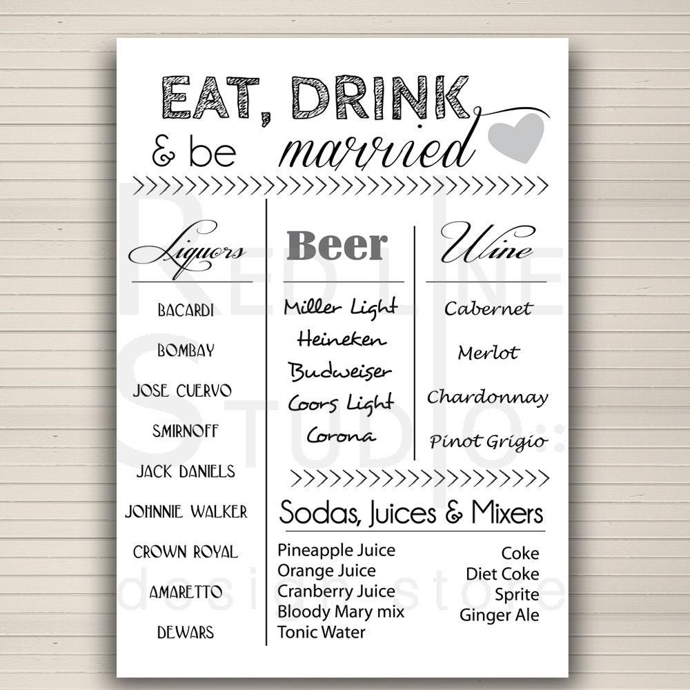 Bar Menu For Wedding Reception Whimsical Wedding Bar Idea