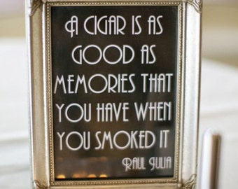 Printable Cigar Bar Quote Sign - Wedding, Reception, Roaring 20s, Great Gatsby Party, DIY Instant Download Typography Print