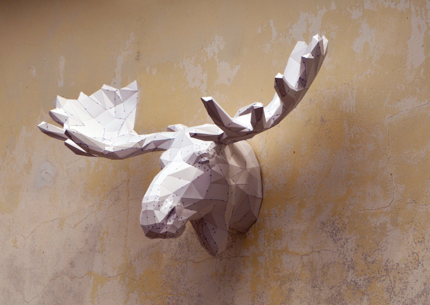 Make your own moose sculpture papercraft moose papercraft zoom jeuxipadfo Image collections