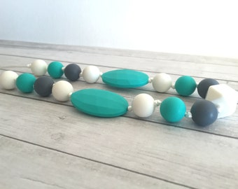 Necklace teething jewelry for MOM, silicone jewelry, necklace breastfeeding beads silicone sensory awareness, teething toy