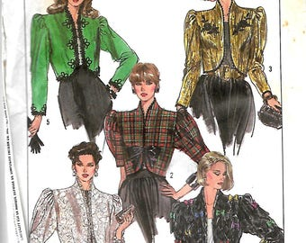 Simplicity 8954 Misses Lined Bolero Jackets Sewing Pattern, Size 8, UNCUT