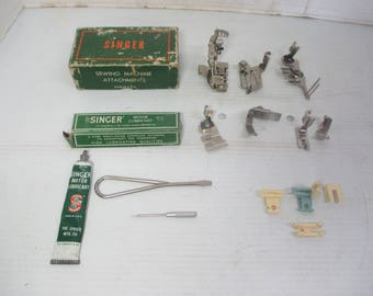 Singer Simanco  Sewing Machine Attachments - Ruffler, 36865, 121877, 160359, 35931, 120842, 121441, & Singer Motor Lubricant 1/2 Oz. in Tube