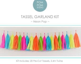DIY Tassel Garland Kit | Neon Pop