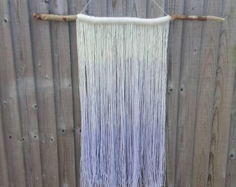 Dip dyed Ombre Boho style yarn Wall hanging