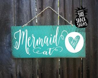 mermaid, mermaid at heart, mermaid decoration, mermaid wall art, mermaid wall decor, mermaid sign, mermaid wall art, mermaid home decor, 183