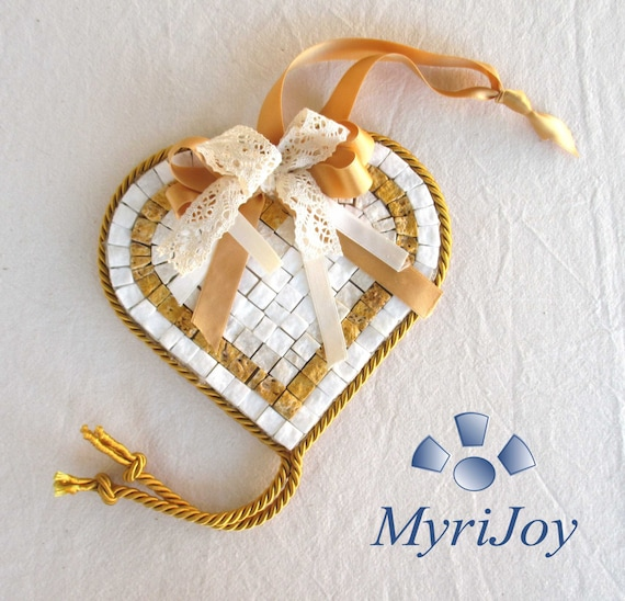 Do it yourself mosaic kit yellow heart marble tiles unique do it yourself mosaic kit yellow heart marble tiles unique anniversary gift ideas wife crafts for adults and teens home pebble art from myrijoy on solutioingenieria Gallery