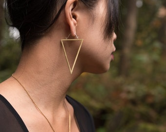 The Large Open Triangle Earrings