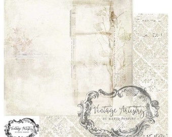 49 & Market Vintage Artistry Paper Kit - 49 and Market Botanical Press - Nature Paper Collection - Heavyweight Scrapbook Paper - 1-044