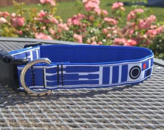 R2D2 Star Wars inspired dog collar