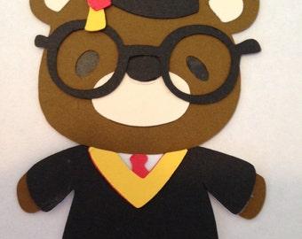 Teddy Bear Graduate Die Cut