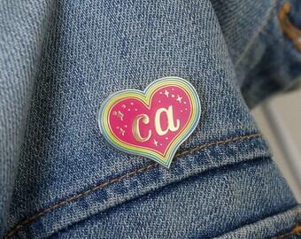 California Heart Lapel Pin