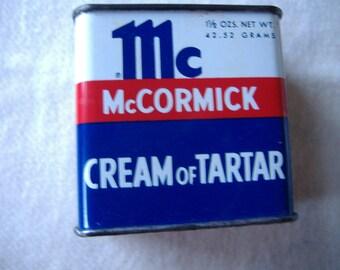 Vintage McCormick Cream of Tartar Tin