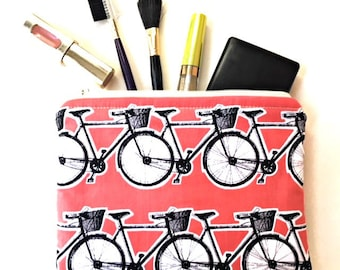 Bicycle Laptop Cord Pouch, Charger Cord Bag, Cosmetic Bag, Travel Bag, Toiletry Bag, Zipper Case, Zipper Pouch, Zipper Bag, Custom Fabrics