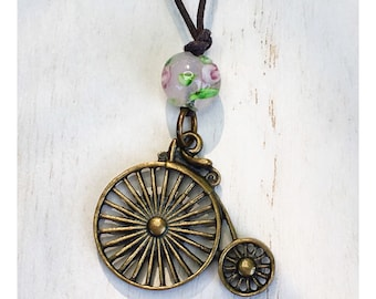 Old Fashioned Bicycle Necklace