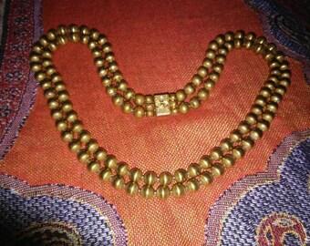 1940s Gilt Brass Necklace