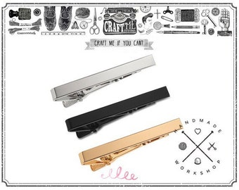2PCS 54MM TIE CLIP Kit Tie bar Tie Clip Blanks accessory finding.