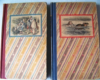 Through The Looking Glass and Alice's Adventures In Wonderland (Two Books) - 1946