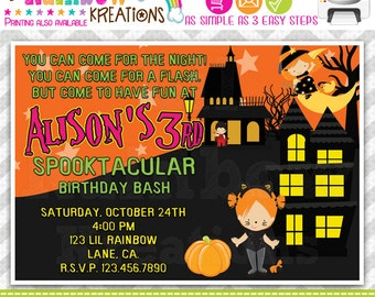 216: DIY - Halloween 10 Party Invitation Or Thank You Card