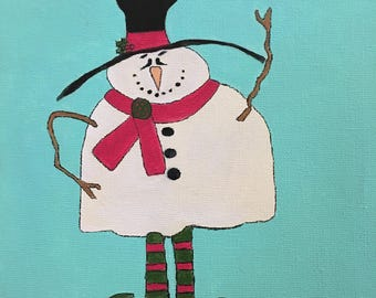 "Canvas painting print - ""Shanks The Snowman"""
