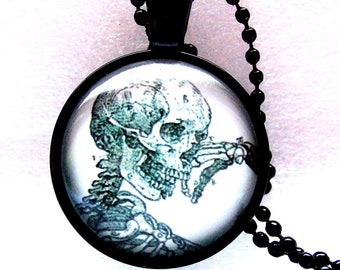 Necklace Skeleton Gothic chain necklace